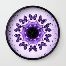 All things with wings (purple) Wall Clock