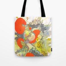 Orange Pathway Tote Bag