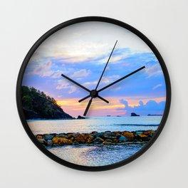 An Evening Glow Wall Clock