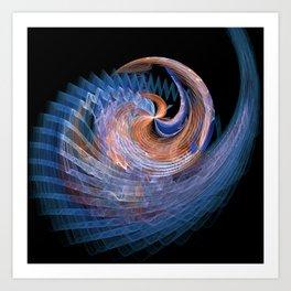 Seashell Fractal 1 Art Print