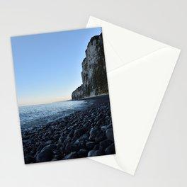 White cliffs sunrise - Normandy France - blue grey - Travelphotography Stationery Cards