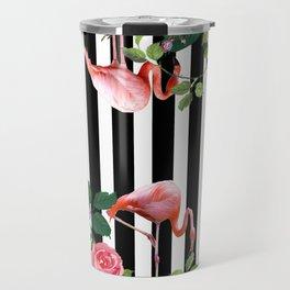 tropical flamingo Travel Mug
