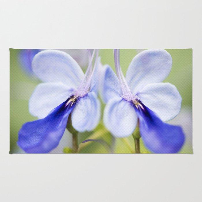 Blue Glory Bower Rug