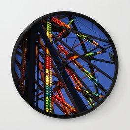 County Fair at dusk. Wall Clock