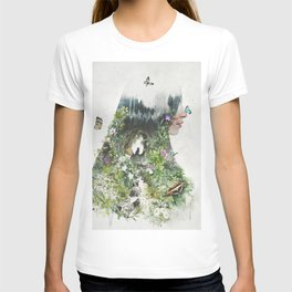 Cat in the Garden of Your Mind T-shirt