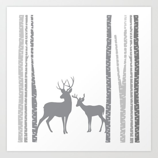 Lonely Deer No. 2 Art Print