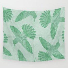 Hummingbird Pattern Wall Tapestry