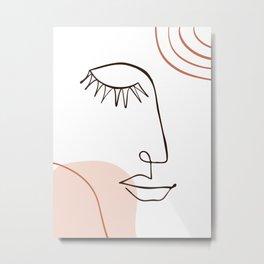 Abstract Line Art Metal Print