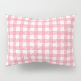 Pastel pink modern geometric check pattern Pillow Sham