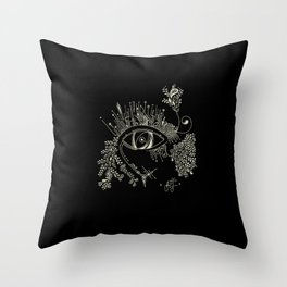The eye watching you Throw Pillow