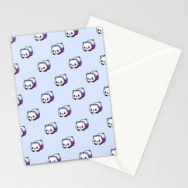 Kawaii Galactic Mighty Panda pattern Stationery Cards