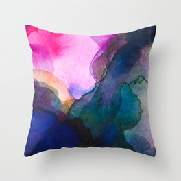 Color layers 4 Throw Pillow