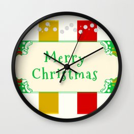 Merry Christmas Antique Wall Clock