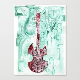 red guitar pt 2 Canvas Print