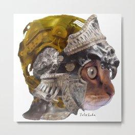 Cat Warrior Metal Print
