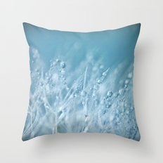 Blue Drops Throw Pillow