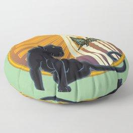 Jaguar Plain Art Deco Floor Pillow