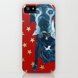 Starry Leonard the Black Lab Dog Portrait iPhone Case