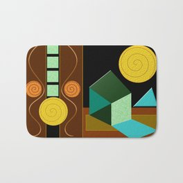 Modern Geometric Textured Abstract Bath Mat