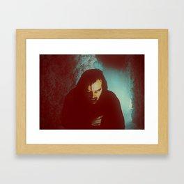 Jack Torrance in the Hedge Maze Framed Art Print