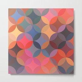 Moroccan pattern multicolor Metal Print