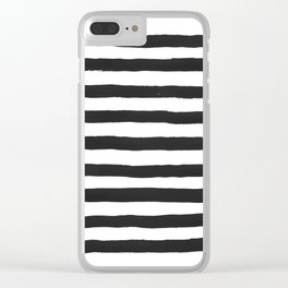 Black paint stripes Clear iPhone Case
