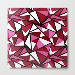 Abstract geometric triangles pattern . 6 Metal Print