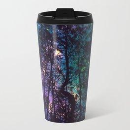 Black Trees Colorful Teal Space Travel Mug