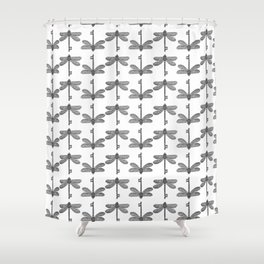 The Dragonfly Key Shower Curtain