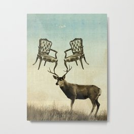 louis xv stag chairs Metal Print