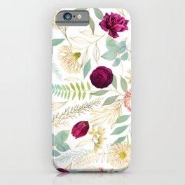 Isobel Floral White - Rose, Peony, Jasmine iPhone Case
