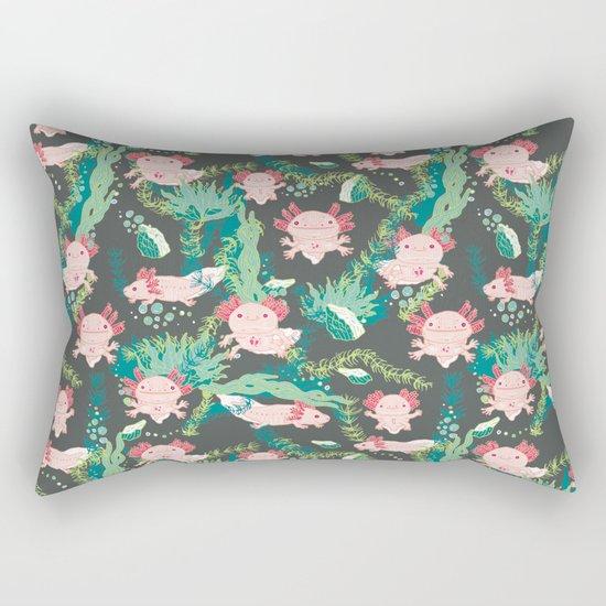 Baby Axolotl Rectangular Pillow