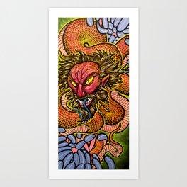 Zhulong Dragon Art Print