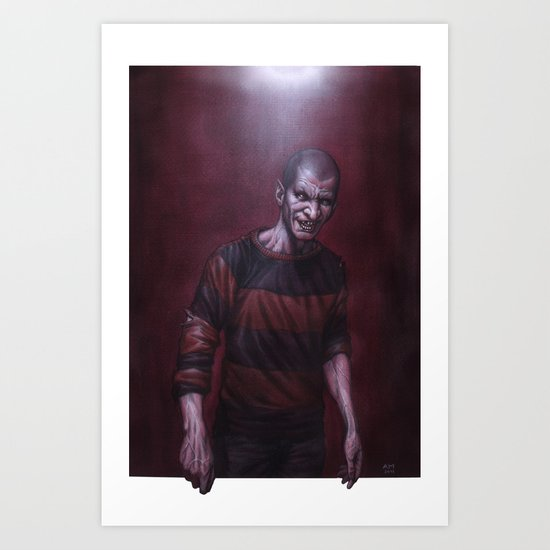 Jeffrey Darkside Art Print