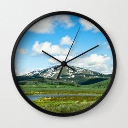 Yellowstone Mountain Wall Clock