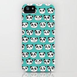 emotional panda pattern iPhone Case
