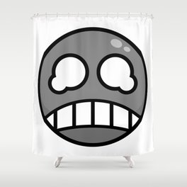 Scared Gray! Shower Curtain
