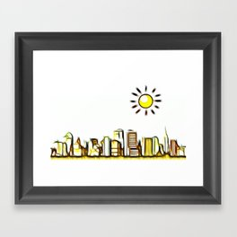 Good Morning World Framed Art Print
