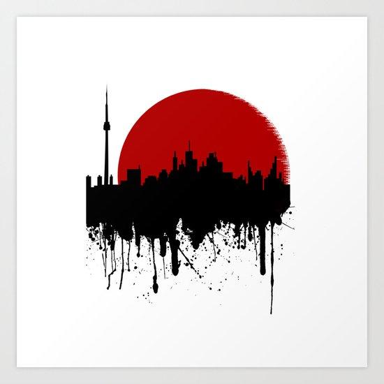Cityline Art Print