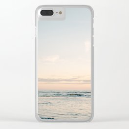 Pretty Pastel Sea | Beach travel photography art print | Soft colored fine art poster Clear iPhone Case