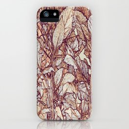 abstract camouflage leaves iPhone Case