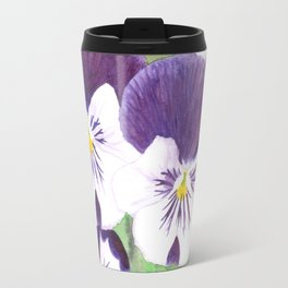 Pansies flowers Travel Mug