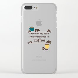Drowning in Coffee Clear iPhone Case