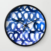 breaking Wall Clocks featuring Breaking the waves by Picomodi