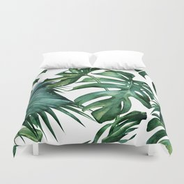 Simply Island Palm Leaves Duvet Cover