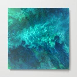 Green Sea Water Metal Print
