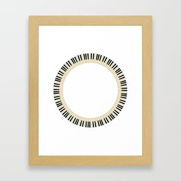 Pianom Keys Circle Framed Art Print