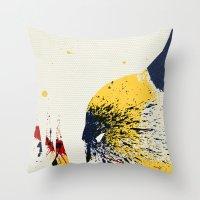 animal crew Throw Pillows featuring Animal by Arian Noveir