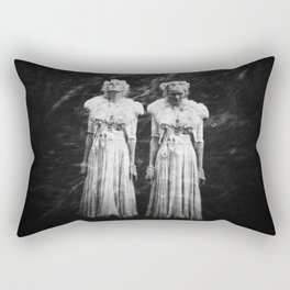 The Twin - Annie Montgomery - Holga Double Exposure  Rectangular Pillow