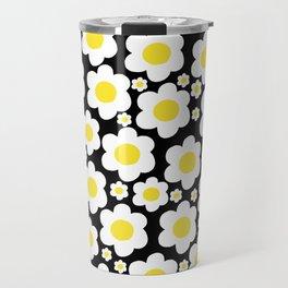 60s Daisies Pop Art Travel Mug